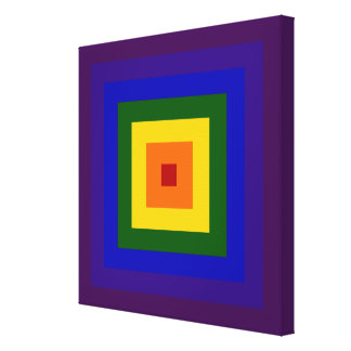Rainbow Square Canvas Print