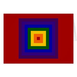 Rainbow Square Card