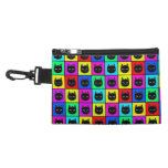 Rainbow Square Cat Pattern Accessories Bag