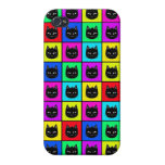 Rainbow Square Cat Pattern Covers For iPhone 4