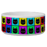 Rainbow Square Cat Pattern Dog Bowl