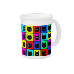 Rainbow Square Cat Pattern Drink Pitchers