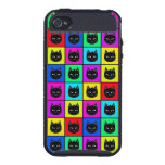 Rainbow Square Cat Pattern iPhone 4 Cover