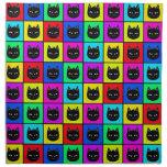 Rainbow Square Cat Pattern Napkins