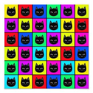 Rainbow Square Cat Pattern Photo Print