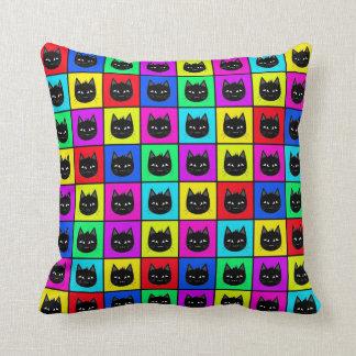 Rainbow Square Cat Pattern Pillow