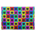 Rainbow Square Cat Pattern Place Mat
