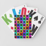 Rainbow Square Cat Pattern Poker Cards