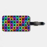 Rainbow Square Cat Pattern Travel Bag Tag