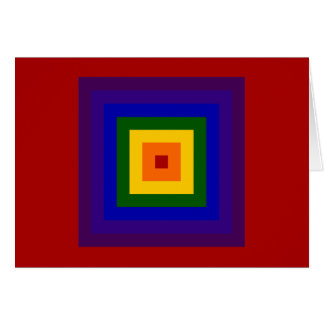 Rainbow Square Greeting Card