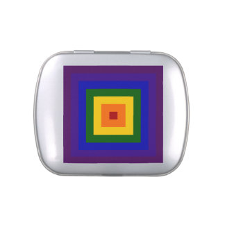 Rainbow Square Jelly Belly Candy Tins