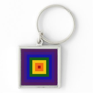 Rainbow Square keychain