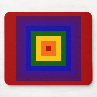 Rainbow Square Mouse Pad