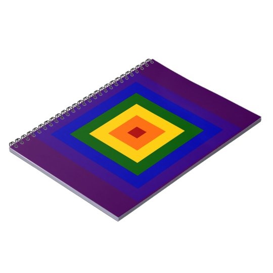 Rainbow Square Notebook