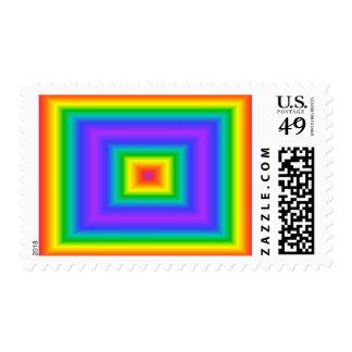 Rainbow Square Postage