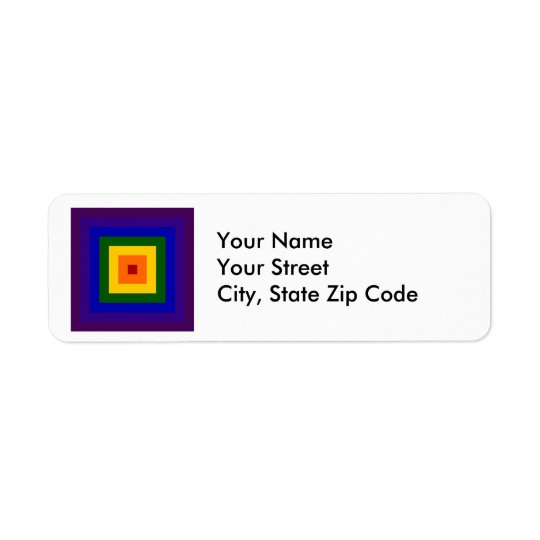 Rainbow Square return address label