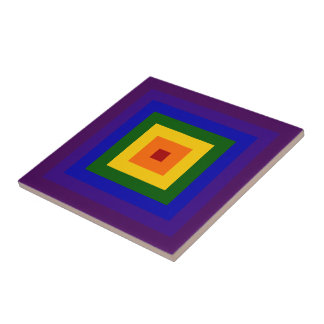 Rainbow Square Tile