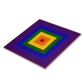 Rainbow Square Tiles
