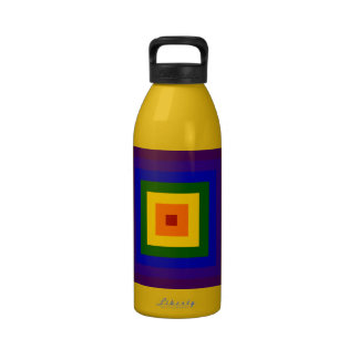 Rainbow Square Water Bottles