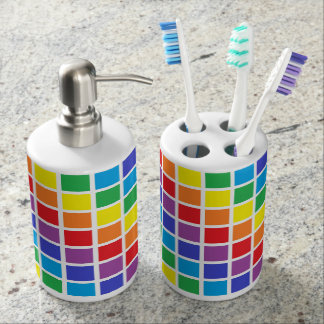 Rainbow Squares Bath Set