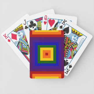 Rainbow Squares Bicycle Playing Cards