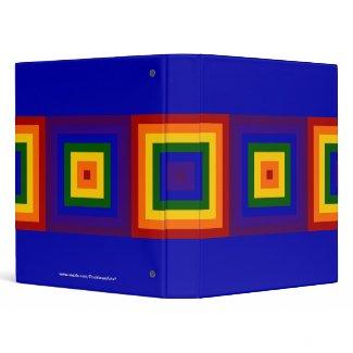 Rainbow Squares binder