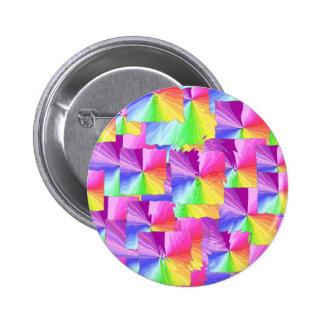 Rainbow Squares Pin