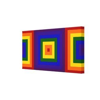 Rainbow Squares Canvas Print