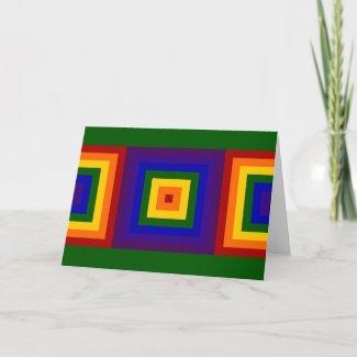 Rainbow Squares card