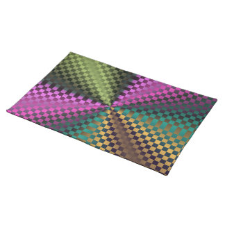 Rainbow Squares Cloth Place Mat