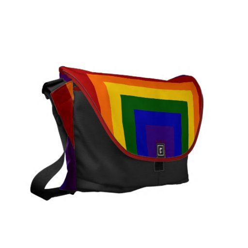 Rainbow Squares Courier Bag