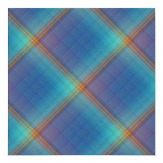 """Rainbow Squares Invitation 5.25"""" Square Invitation Card"""