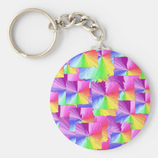 Rainbow Squares Keychains