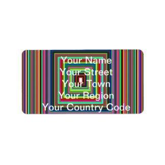 Rainbow Squares Label