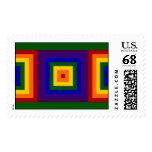 Rainbow Squares – Large Postage Stamp