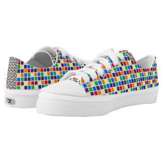 Rainbow Squares Low-Top Sneakers