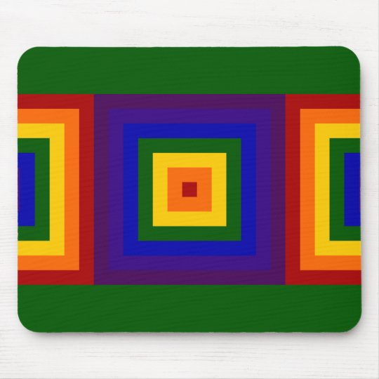 Rainbow Squares Mouse Pad