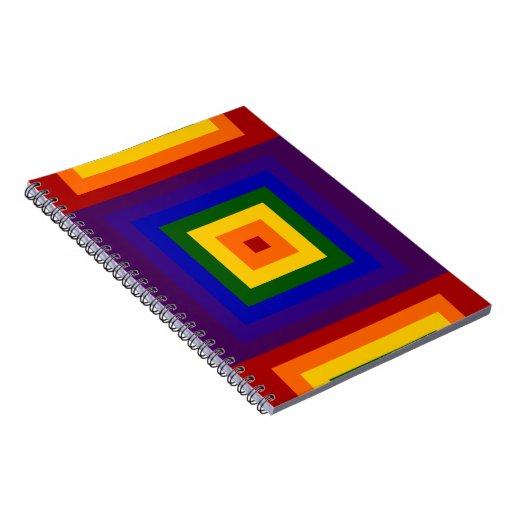 Rainbow Squares Note Book