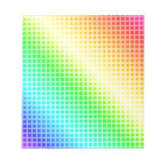Rainbow Squares Notepad