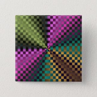 Rainbow Squares Pinback Button