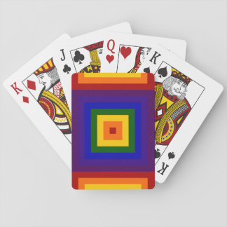 Rainbow Squares Playing Cards