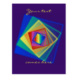 rainbow squares postcard