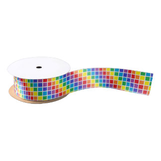 Rainbow Squares Ribbon