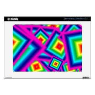 rainbow squares samsung series 5 chromebook samsung chromebook skin