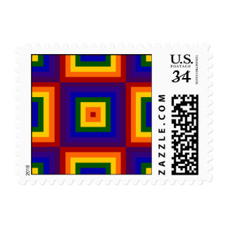 Rainbow Squares – Small Postage