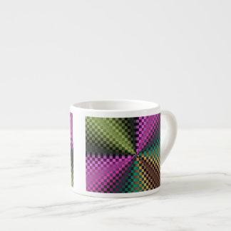 Rainbow Squares Espresso Cups