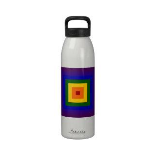 Rainbow Squares Water Bottles