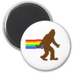 Rainbow Squatch 2 Inch Round Magnet