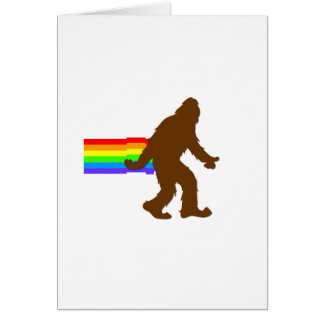 Rainbow Squatch Card