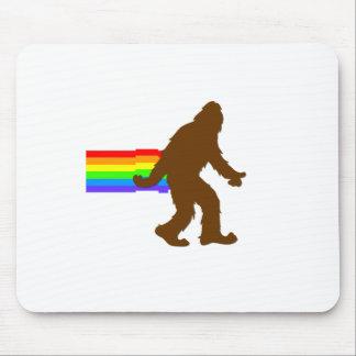 Rainbow Squatch Mouse Pad